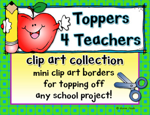 Toppers for Teachers Clip Art Download Collection