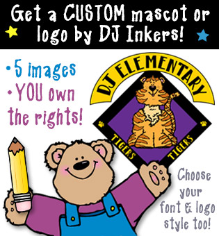 Custom Logo or Mascot Clip Art Package by DJ Inkers