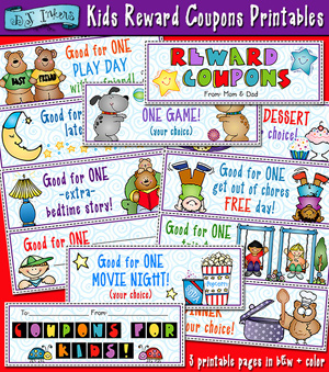 Kids Reward Coupons Printable Download