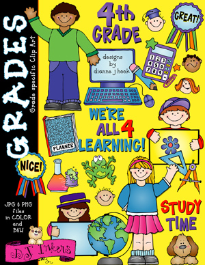 Cute Fourth Grade Clip Art Download
