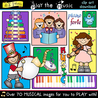 Play the Music Clip Art Download