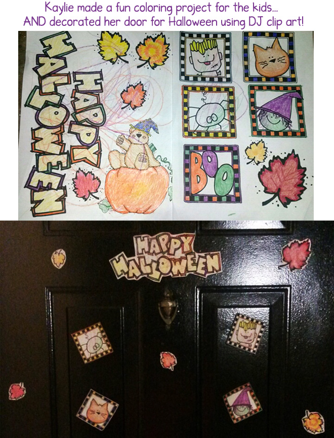 Hauntingly cute clip art for Halloween smiles by DJ Inkers