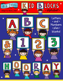 Kid Blocks Clip Art Alphabet Download
