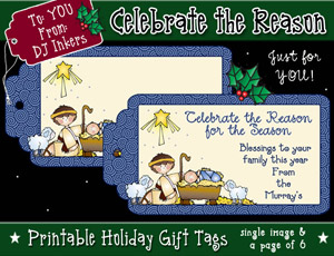 Celebrate the Reason Printable Gift Tags