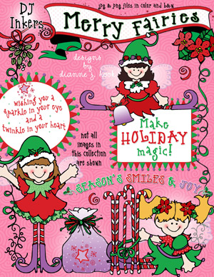 Merry Fairies Clip Art Download