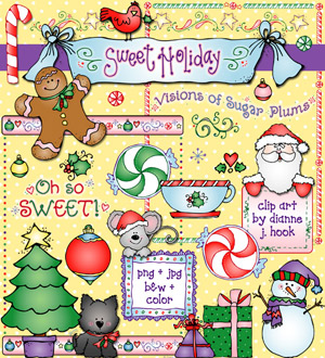 Sweet Holiday Clip Art Download