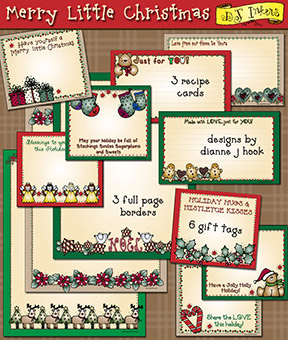 Merry Little Christmas Borders and Printables Download