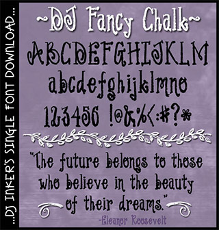DJ Fancy Chalk Font Download