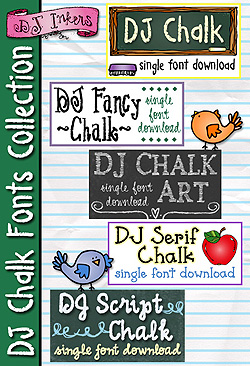 DJ Chalk Fonts Collection Download