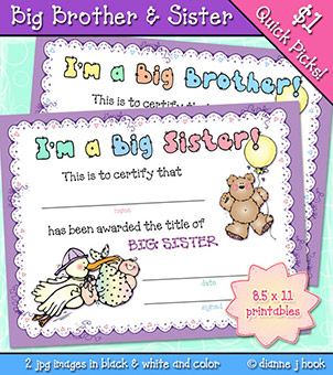 Big Brother and Sister Certificate Download