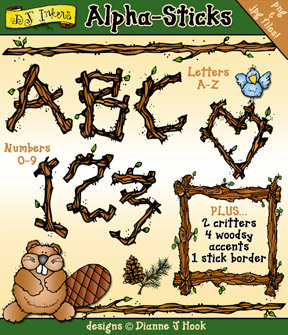 Alpha-Sticks Clip Art Alphabet Download
