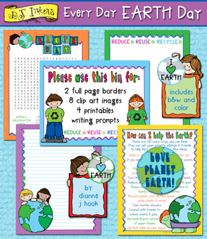 Every Day Earth Day - Clip Art and Printables Download