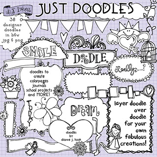 Just Doodles Clip Art Download Vol. 1