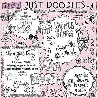 Just Doodles Clip Art Download Vol. 2