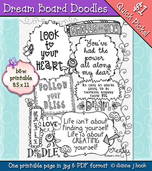 Dream Board Doodles Printable Download