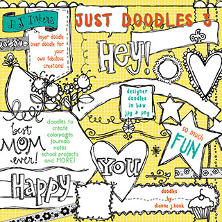 Just Doodles Clip Art Download Vol. 3