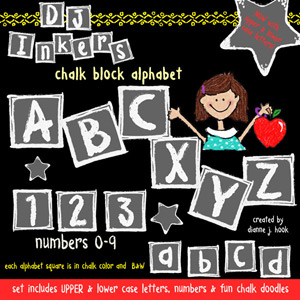 Chalk Block Clip Art Alphabet Download