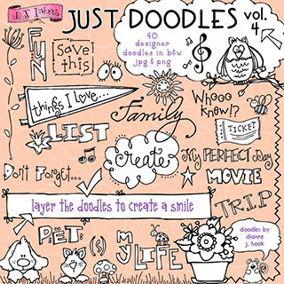 Just Doodles Clip Art Download Vol. 4
