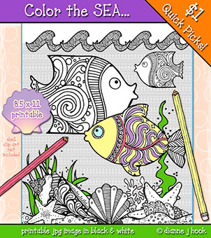 Color the Sea Printable Download