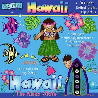 Hawaii USA Clip Art Download