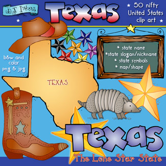 Texas USA Clip Art Download