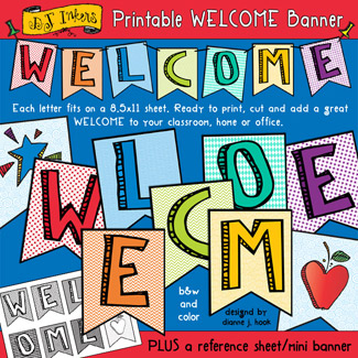 Welcome Banner Printable Download