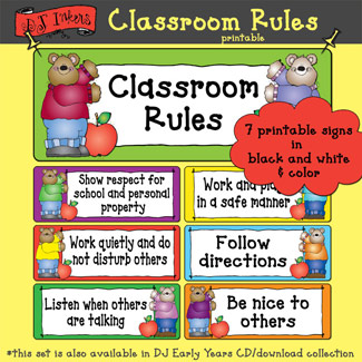 Classroom Rules Printable Download