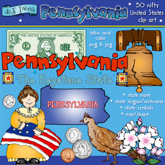 Pennsylvania USA Clip Art Download