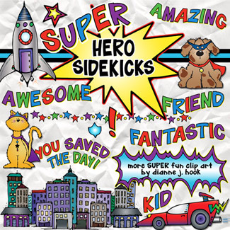 Super Hero Sidekicks Clip Art Download