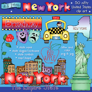 New York USA Clip Art Download