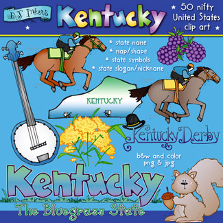 Kentucky USA Clip Art Download
