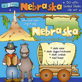 Nebraska USA Clip Art Download