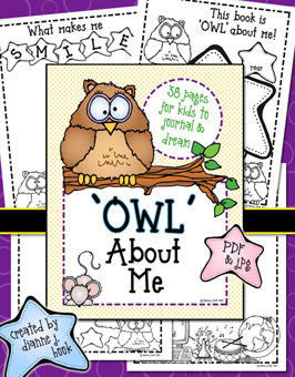 OWL About Me Printable Download