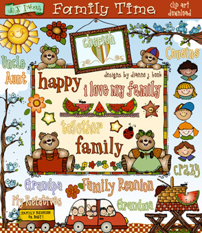 Family Time Clip Art Download