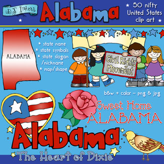 Alabama USA Clip Art Download
