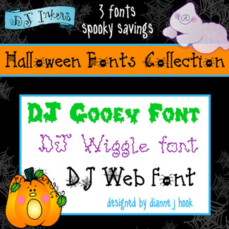 DJ Halloween Fonts Collection Download