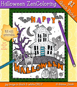 Halloween Zen-Coloring Page Download
