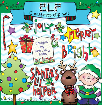 Elf Clip Art and Printables Download