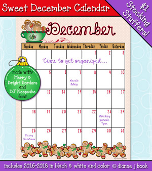 Sweet December Calendar Download