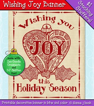 Wishing Joy Printable Banner