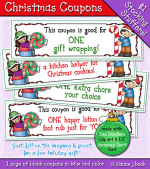 Christmas Coupons Printable Download