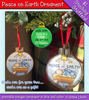 Peace on Earth Ornament Printable