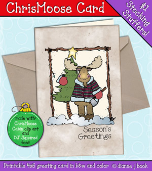 Chris-Moose Card Printable Download