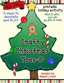 Crafty Christmas Tree-O Printable Download
