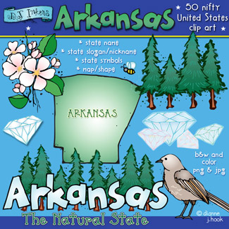 Arkansas USA Clip Art Download