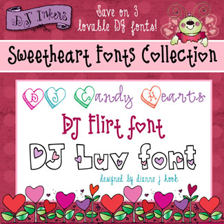 DJ Sweetheart Fonts Collection Download