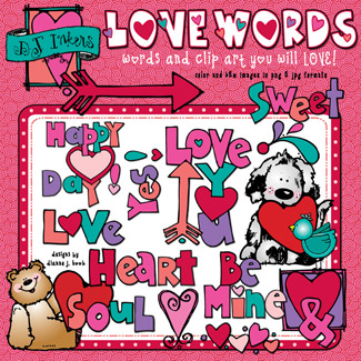 Love Words Clip Art Download