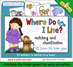 Where Do I Live File Folder Game Download