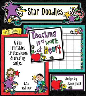 Star Doodles Teacher Printables Download