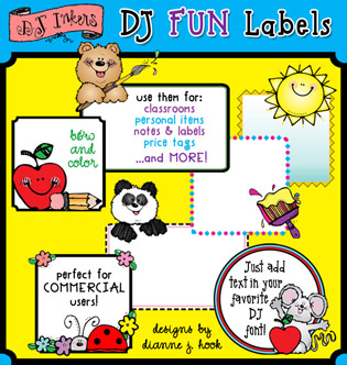 DJ Fun Labels Clip Art Download